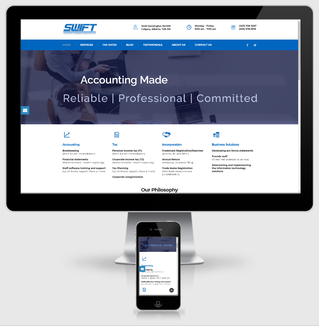 swift ltd website preview